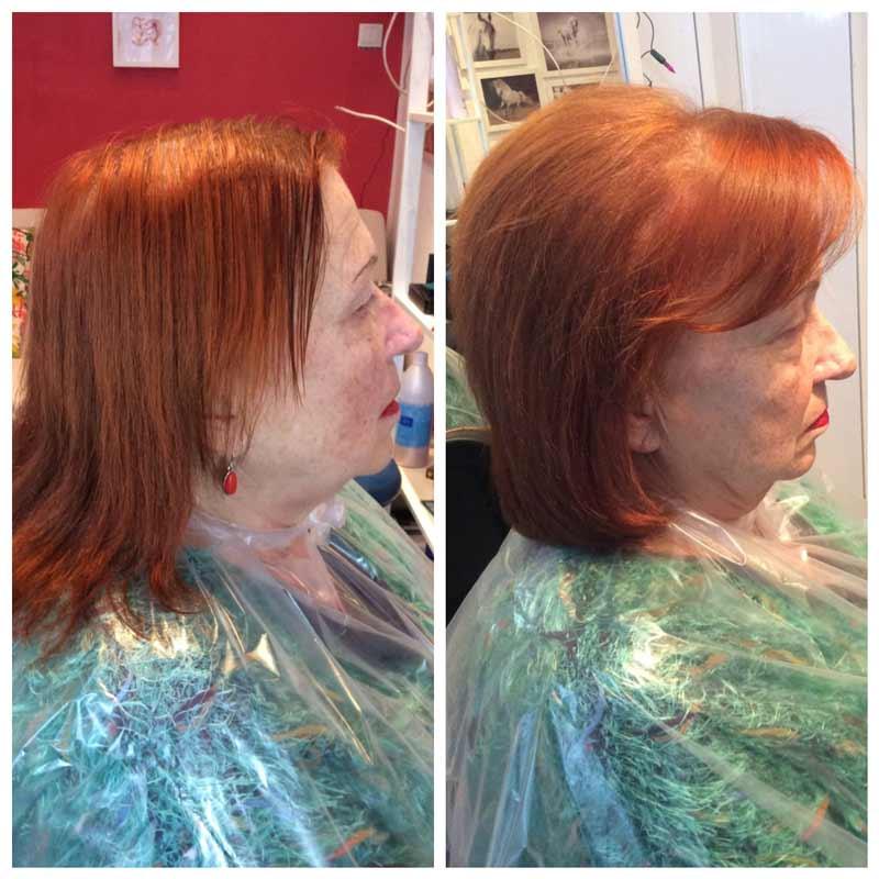 После процедуры прикорневого объема кажется что волос больше :)