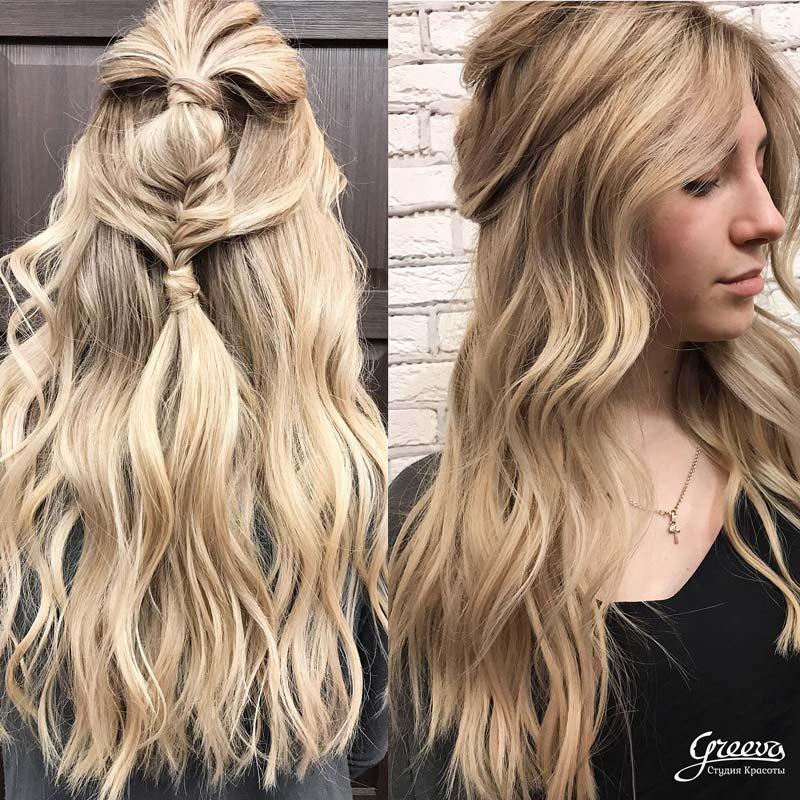 окрашивание американский блонд