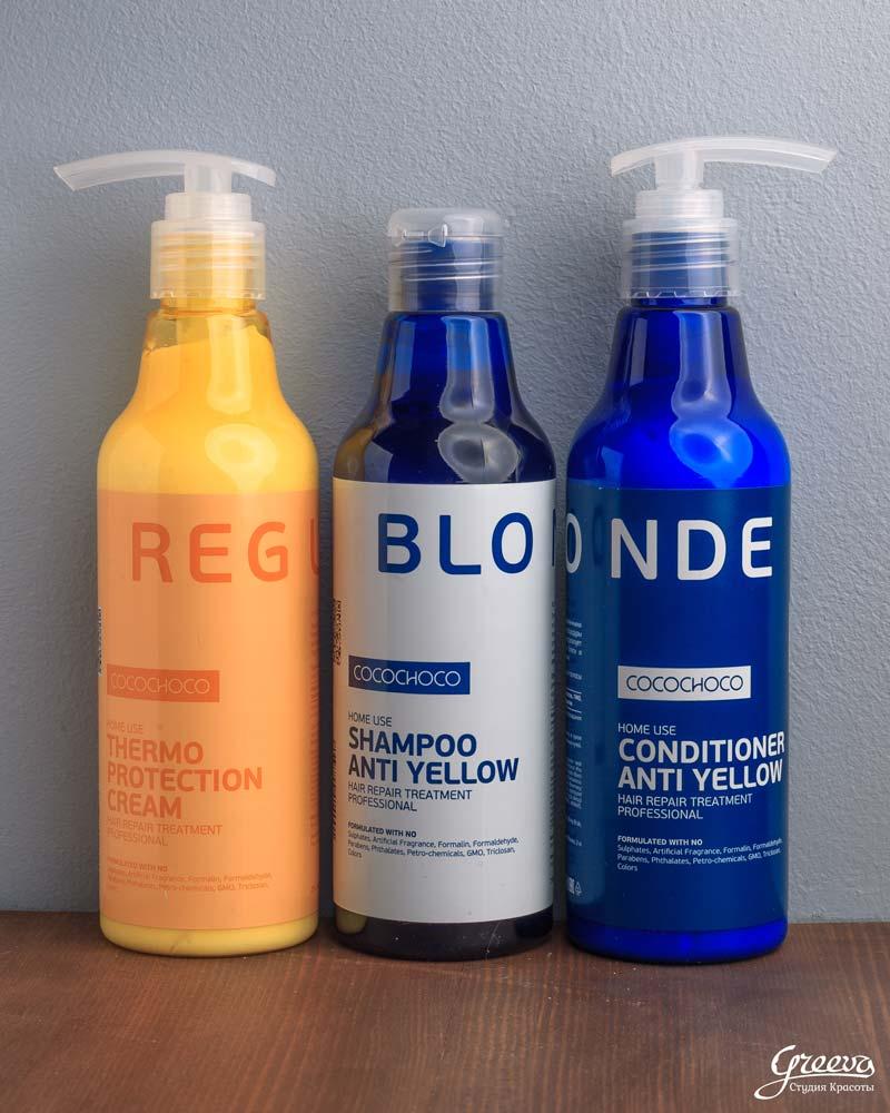 шампуни и кондиционеры для блондинок, от cocochoco