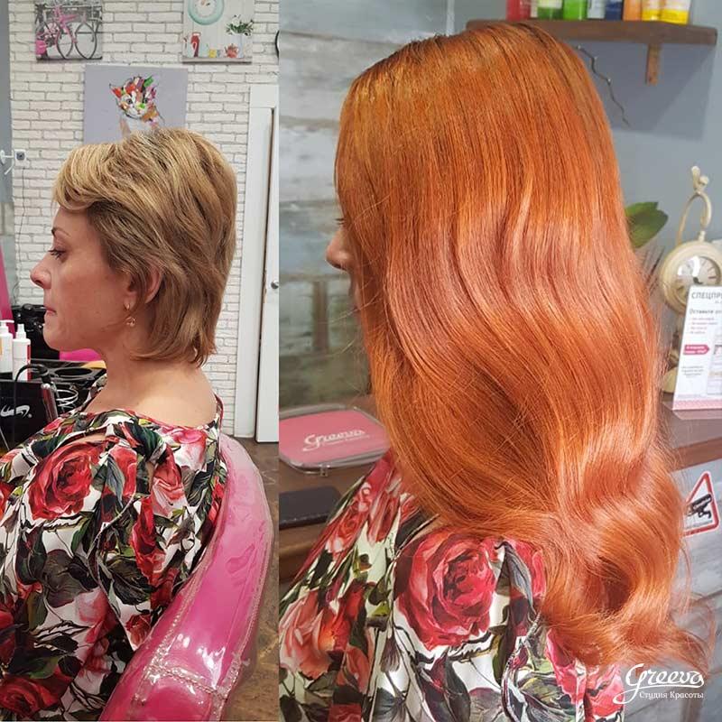 идеальное наращивание на короткие волосы, вид2