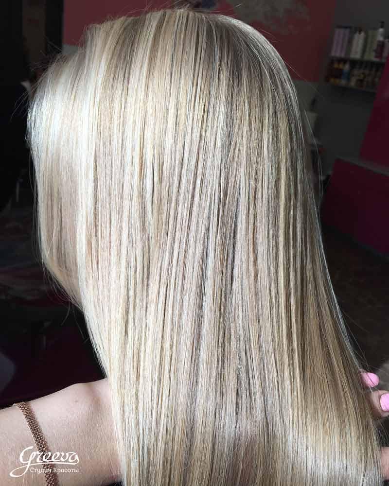 блондинка, красивые волосы,