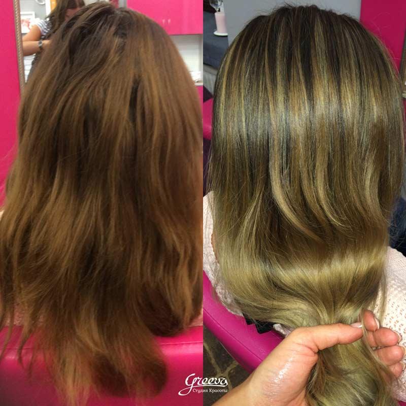 красивые волосы, брондирование волос