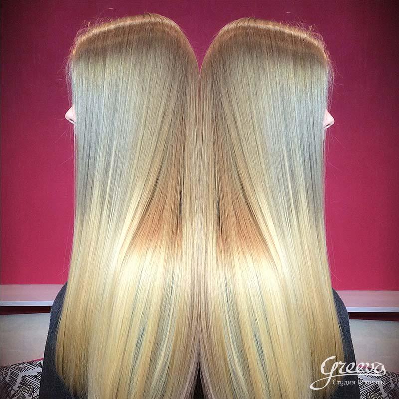 окрашивание омбре на светло-русые волосы
